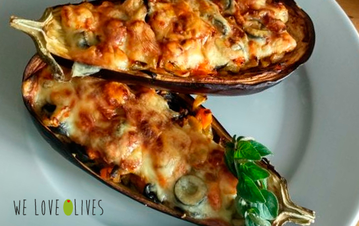 AUBERGINES STUFFED WITH TUNA AND OLIVES